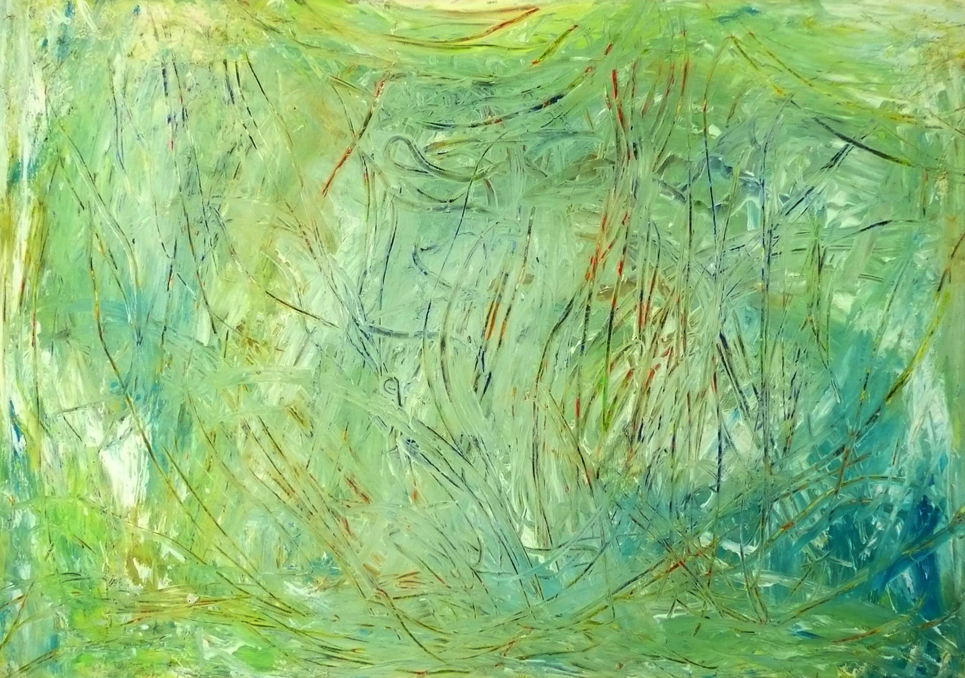 Peter Ballath, Mikado, 2012, Gouache auf Leinwand, 70 x 100 cm, (14)